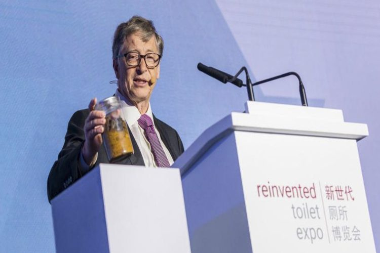Bill Gates Human Feces Jar