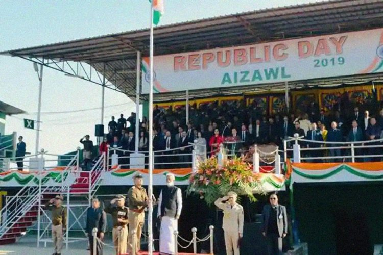 Mizoram Republic Day Boycott