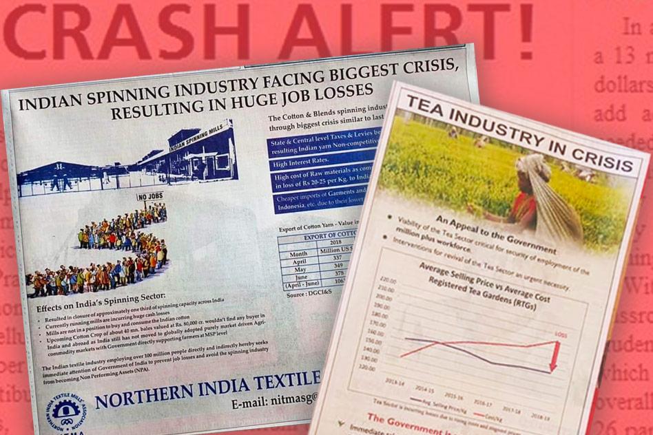 Facing Shutdown & Job Losses, Textiles Association Issues Ad