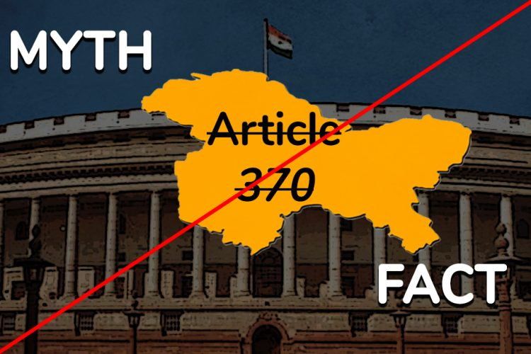 Jammu Kashmir Special Status Myths Facts