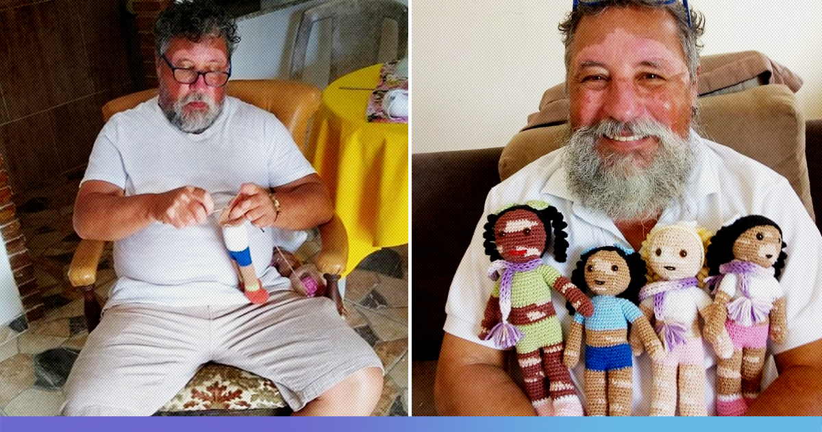 "Brazilian Grandpa With Vitiligo Sews Dolls To Restore ""Self-Esteem"" Of Children Suffering From This Disease"