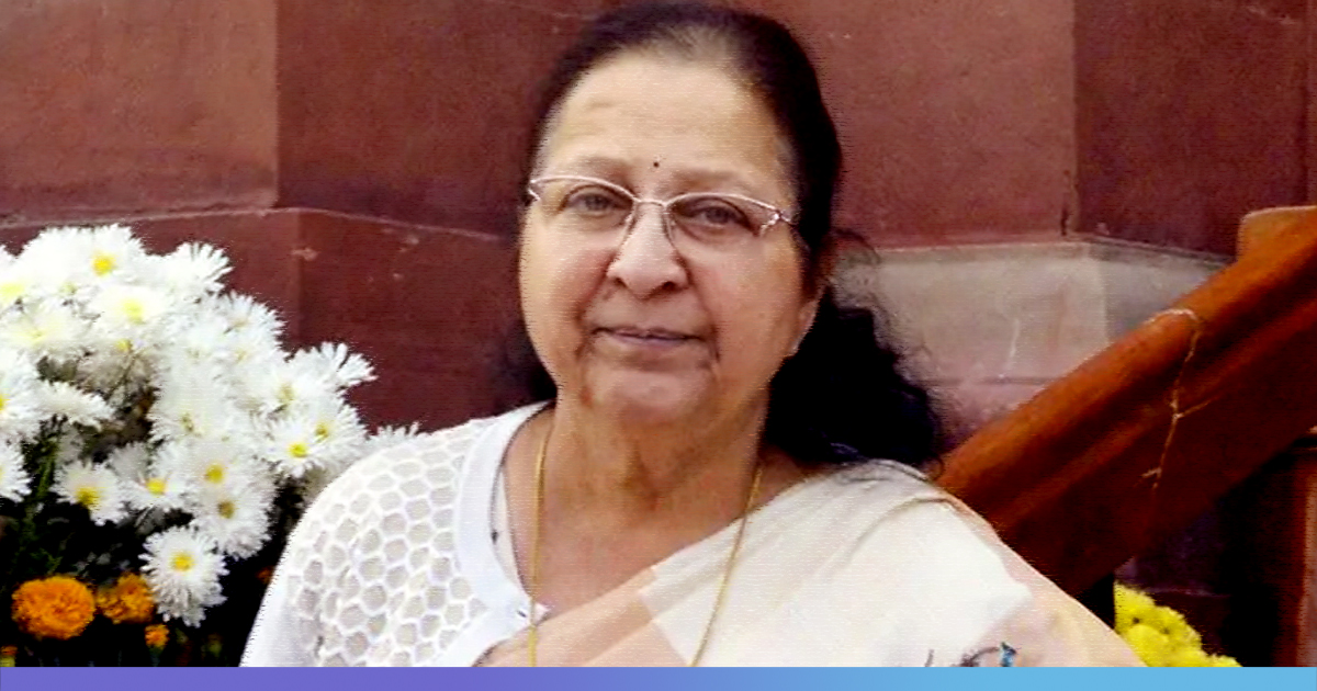 Requested Congress To Raise My Issues As I Could Not Speak Against My Party: BJP Veteran Sumitra Mahajan